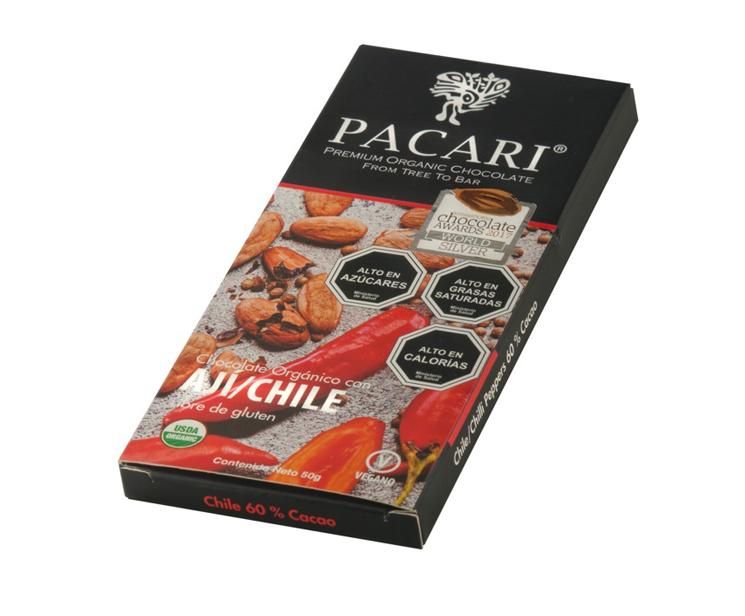 Chocolate orgánico con chile SKU 59